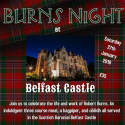 Burns Supper at Belfast Castle picture