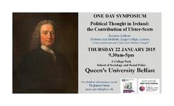 Political thought in Ireland: the contribution of Ulster-Scots picture