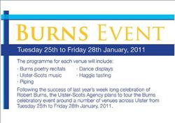 'Burns Week' Launched - Join us in Ballymoney, Omagh & Letterkenny picture