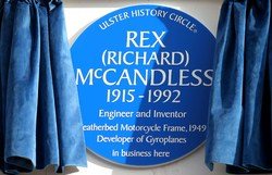 Blue Plaque to honour Rex McCandless picture