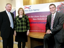 Minister for Culture, Arts and Leisure, Nelson McCausland officially launches Ulster-Scots Agency website picture
