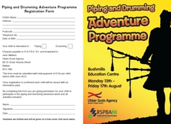 Final Reminder re Summer Adventure Programme for Pipers and Drummers picture