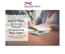 School Music & Dance Tuition Programme Now Open! picture