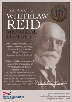 Annual Whitelaw Reid Memorial Lecture this Thursday picture