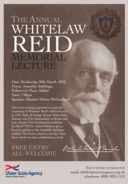 Join us for the Annual Whitelaw Reid Memorial Lecture on Wednesday 28th March picture