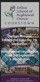 Highland Dance Classes commence in Cookstown
