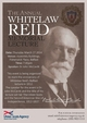 Annual Whitelaw Reid Memorial Lecture this Thursday